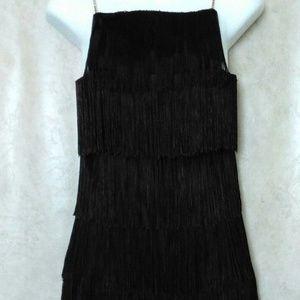 Betsey Johnson Black Fringe Vintage Dress w/ Tags